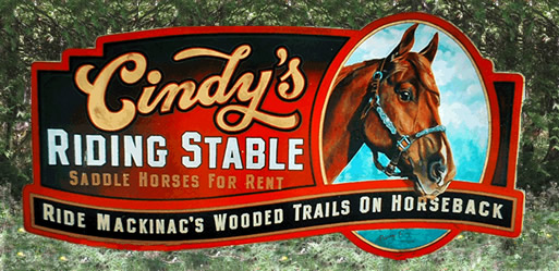 Ride Mackinac's wooded trails on horseback.